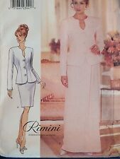 96 BUTTERICK 4444 MS/Wmns Jacket & Skirts PATTERN 6-8-10/12-14-16/18-20-22 UC