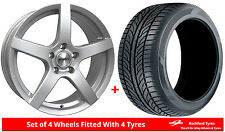 """Alloy Wheels & Tyres 17"""" Calibre Pace For Peugeot 307 01-08"""