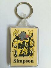 Barbarino to Barden Family Coat of Arms Crest Heraldic KEYRING Key Chain