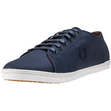 Fred Perry Kingston Mens Trainers Carbon Blue New Shoes