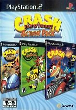 CRASH BANDICOOT ACTION PACK (Sony PlayStation 2, 2007) PS2 GAME RARE 3 GAMES