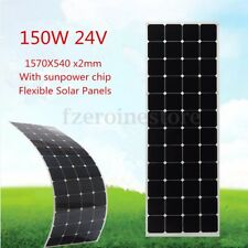 150W 24V Flexible Solar Panel Battery Charger w/1.5m Cable For Boat Caravan Home