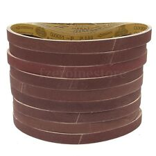 "10x Abrasive Sanding belts 25mmx762mm(1""x30"") for Rexon,Clarke etc. 40-600grit"