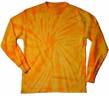 Gold Spider Tie Dye T-Shirts Kids Youth XS - L Long Sleeve 100% Cotton