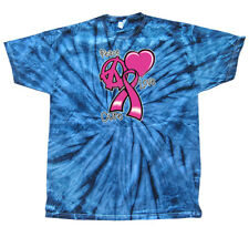 Peace Love Cure - Cancer Ribbon Awareness -Adult T-Shirt