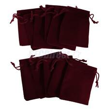 10 pieces Velvet Bags Wedding Party Drawstring Jewelry Pouches 7 *9CM