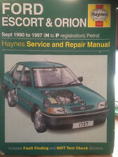 Haynes Ford Escort & Orion Sept 1990 to 1997 (H to P) Petrol (no.1737)
