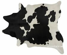 Black and White Brazilian Cowhide Rug Cow Hide Area Rugs Skin Leather