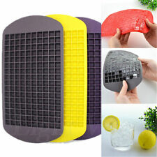 New 160 Ice Cubes Frozen Cube Bar Pudding Silicone Tray Mould Mold Tool 043hh