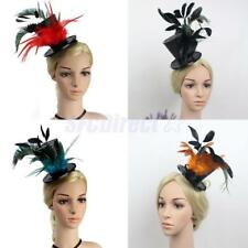 Wedding Ascot Races Sequin Flapper Feather Top Hat Clip 20s Gatsby Fascinator