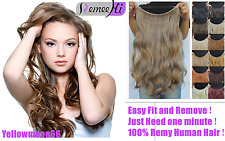 Invisible Stretchy Secret Flip in Halo Miracle Wire Human Hair Extensions
