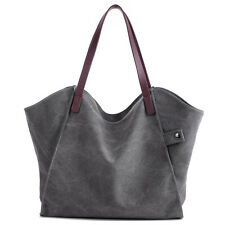 Casual Slouch Women Canvas Large Shoulder Bag Totes Work Carry Handbag Wings Bag