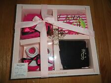 Juicy Couture Baby Girls 4 Pc Gift Set Creeper Booties Leggings Cap 3M 6M 9M NIB