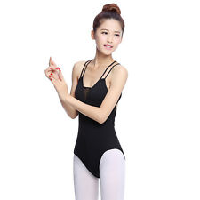 Pop Lady Leotard Cross Back Strappy Ballet Dance Costume Gymnastic Training Wear