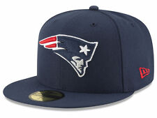 NEW ENGLAND PATRIOTS NFL OFFICIAL BASIC LOGO NEW ERA 59FIFTY NAVY FITTED HAT NWT