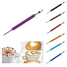 Barista Cappuccino Latte Decorating Art Pen Stainless Steel Kitchen 7 Colors