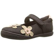 Girl's Toddler RACHEL SHOES BRISTOL Brown Flower Mary Jane Dress Shoes NEW