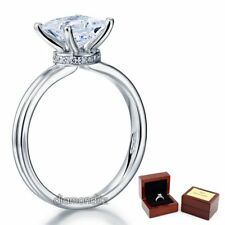 Sterling 925 Silver Wedding Engagement Promise Ring Princess Lab Made Diamond