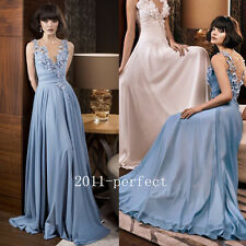 Summer Long Chiffon Evening Formal Dresses Prom Party A line Women Gown Custom