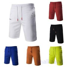 Mens Shorts Jogger Cotton Summer Jogging Gym Pants Running Shorts Casual Beach