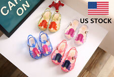 US Summer Baby Girls Children Colorful Buckle Frozen Shoes Sandals Jelly Shoes