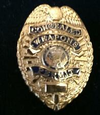 CCW Concealed Weapons Permit Badge mini Lapel or Hat Tac Free shipping