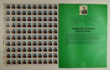 US SCOTT 2244 PANE OF 100 CHRISTMAS MADONNA STAMPS 22 CENT FACE  MNH