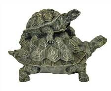 Double Turtle Key Safe Marble Resin Statue Made in USA in 40 Colors