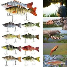 "5X 10cm/4"" Multi Jointed Fishing Bait Lure SUN-FISH Bass Trout Swimbait K9H5"