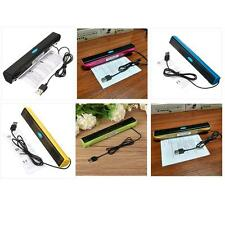 Portable USB Audio Sound Bar Stereo Speaker for Laptop Computer PC Notebook S=
