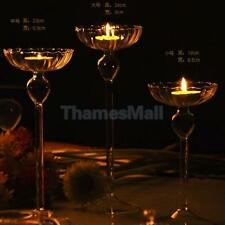 Crystal Glass Candle Tealight Holder Wedding Bar Party Meal Decor Candlestick