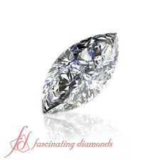 1/2 Carat Marquise Very Good Cut Natural Loose GIA Certified Diamond SI2-D Color