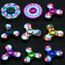 LED Flash Light Fidget Hand Spinner Finger Gyro EDC Kids/Adult Focus Desk Toy