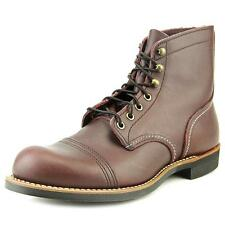 Red Wing Shoes Iron Ranger Men  Round Toe Leather Burgundy Boot