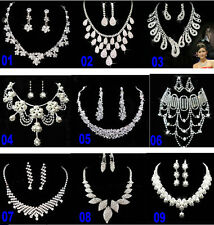 new Jewelry Set Necklace Eearrings party proms Wedding Crystal Belly dance tiara
