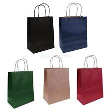 10pcs Kraft Paper Bags with handles Carrier Loot Bags Wedding Party Gift Favor