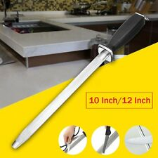 10''/12'' Vogue Diamond Knife Sharpening Steel Oval Kitchen Knife Sharpener Rod