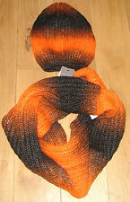 BNWT Topshop Orange Black Ombre Snood & Beanie Hat Set or Separate