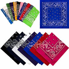 Wholesale Lot 100% Cotton Paisley Print Bandana Head Wrap Scarf Wristband Dozen