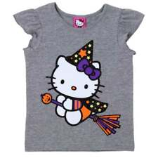Infant & Toddler Girls Gray Hello Kitty Halloween Shirt Witch Cat T-Shirt