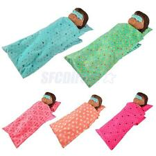Dolls Bedding Sleeping Bag Pillow Eye Patches for 18'' American Girl Dolls ACCS