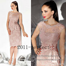 Knee Length Lace Appliques Beaded Mother of the bride Dress For Wedding Evening