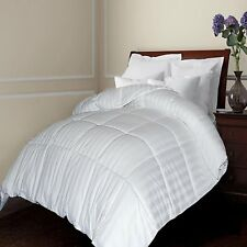 500 TC Damask Stripe Cotton Cover Siberian White Down Comforter