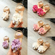 Kids Girls Non-slip Flat Sandals Flower Toddler Baby casual Princess Shoes