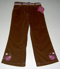 NWT Mary Jane Buster Brown cotton pants belt sz 4T