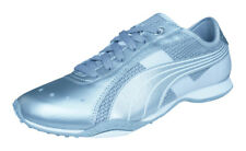 Puma Lillea Metallic Womens Leather Sneakers / Casual Sports Shoes - Silver
