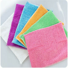 Dish cleaning cloth bamboo fiber dish washing towel Kitchen cleaning cloth Wd