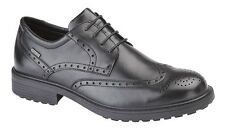 Mens New Waterproof Black Leather Brogue Gibson Lace Up Shoes 7 8 9 10 10.5 11