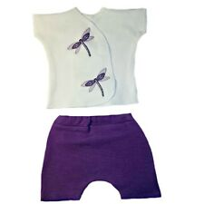 Darling Dragonfly Baby Girl 2 Piece Shorts Outfit 4 Preemie and Newborn Sizes.