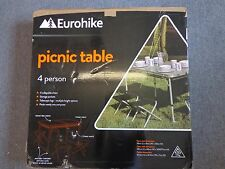 EUROHIKE 4 PERSON FOLDING PICNIC DINING CAMPING OUTDOOR TABLE SEAT STOOL SET
